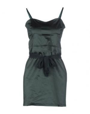 Короткое платье RISSKIO. Цвет: темно-зеленый