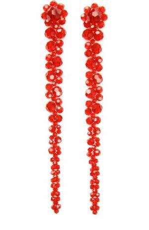 Длинные серьги Simone Rocha. Цвет: красный