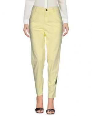 Повседневные брюки FOUDESIR. Цвет: желтый