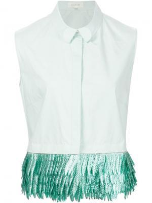 Рубашка без рукавов с бахромой Delpozo. Цвет: зелёный