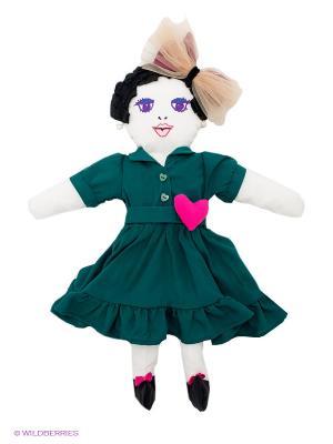 Кукла Vika Smolyanitskaya. Цвет: темно-зеленый, розовый, белый, черный