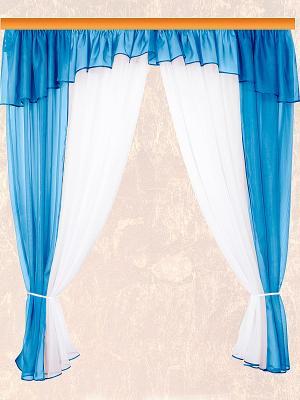 Комплект штор ZLATA KORUNKA. Цвет: голубой