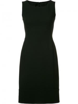 Приталенное платье Akris. Цвет: чёрный