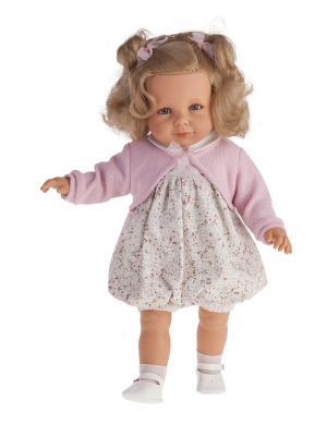 Кукла Нина в розовом, 55см Antonio Juan. Цвет: бледно-розовый, бежевый