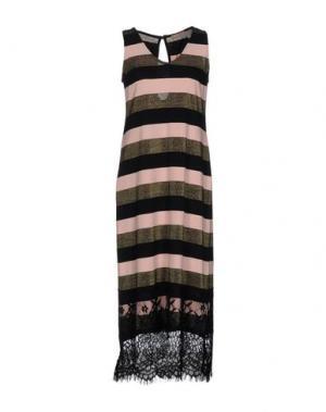Платье длиной 3/4 DV Roma. Цвет: лососево-розовый