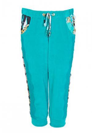 Спортивные брюки ELISA FANTI. Цвет: голубой