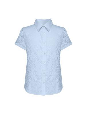 Блузка для девочки с коротким рукавом 7 одежек. Цвет: голубой