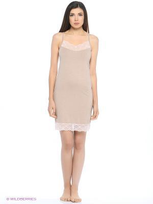 Ночная сорочка Lui et Elle. Цвет: серо-коричневый
