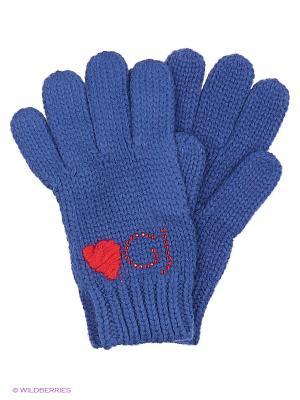 Перчатки Gaudi. Цвет: синий