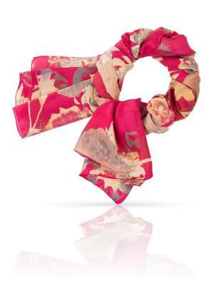 Палантин MICHEL KATANA`. Цвет: красный, золотистый, персиковый