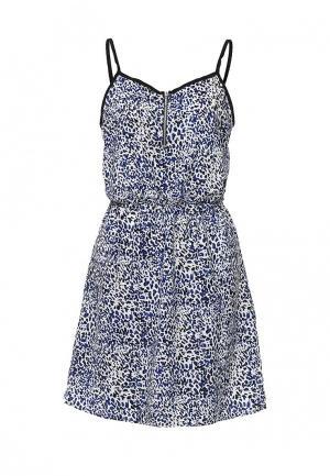 Платье Mim. Цвет: синий