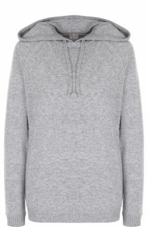 Кашемировый свитер с капюшоном FTC. Цвет: серый