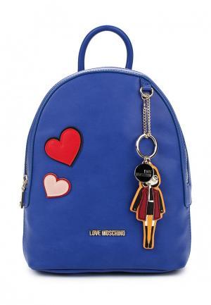 Рюкзак Love Moschino. Цвет: синий