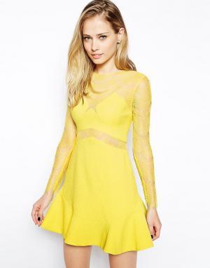 Three Floor Платье One Oh. Цвет: желтый