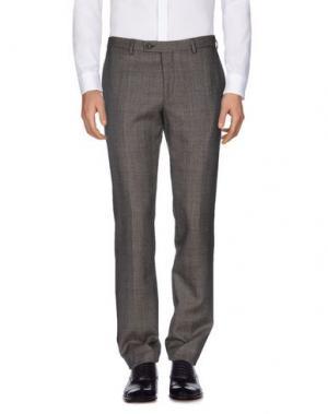 Повседневные брюки FAÇONNABLE. Цвет: свинцово-серый