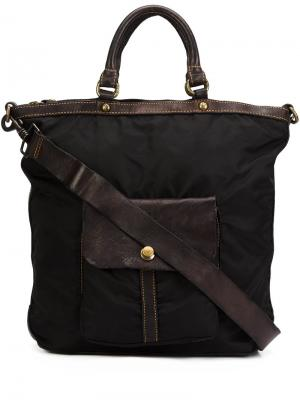 Большая сумка-тоут Campomaggi. Цвет: чёрный