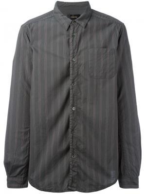 Полосатая рубашка Undercover. Цвет: серый