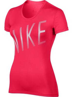 Футболка W NP CL TOP SS SUMMER GRX Nike. Цвет: розовый