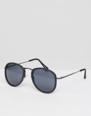 Quay Australia Круглые солнцезащитные очки в черепаховой оправе. Цвет: черный