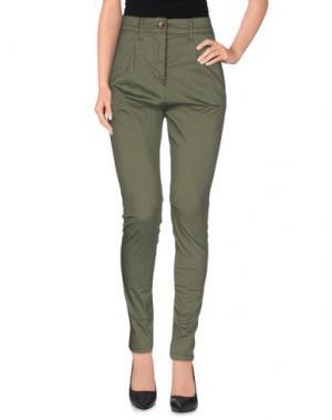Повседневные брюки OPERÀ. Цвет: зеленый-милитари