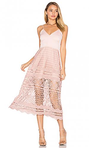 Платье-кроше alice Karina Grimaldi. Цвет: розовый