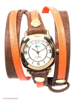 Часы La Mer Collections. Цвет: золотистый, коричневый, оранжевый