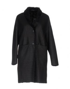 Пальто VINTAGE DE LUXE. Цвет: темно-синий