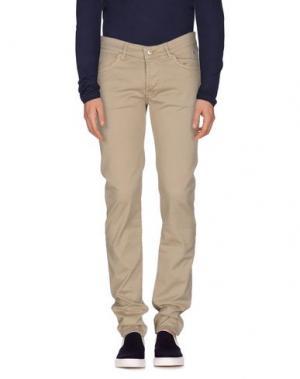 Джинсовые брюки ROŸ ROGER'S. Цвет: песочный
