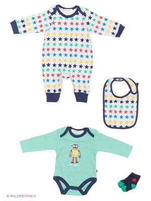 Комплект одежды BABALUNO. Цвет: зеленый, серый