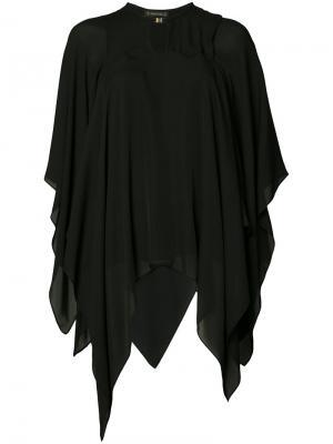 Блузка в стиле кейп Plein Sud. Цвет: чёрный