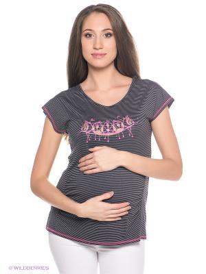 Футболка для беременных ФЭСТ. Цвет: темно-серый