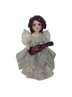 Статуэтка Ангел с гитарой Zampiva. Цвет: белый, коричневый