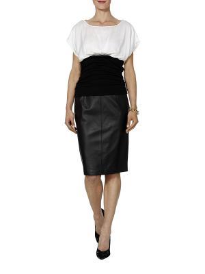 Блузка APART. Цвет: черный, белый
