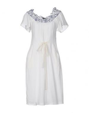 Платье до колена PF PAOLA FRANI. Цвет: белый