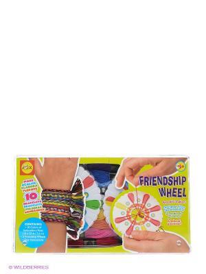 Набор для плетения браслетов  Дружба с 2 станками от 8 лет Alex. Цвет: салатовый