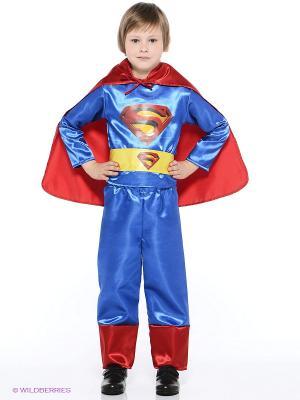 Карнавальный костюм Супермен Батик. Цвет: синий