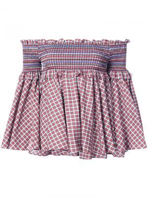 Embroidered off-shoulder blouse Petersyn. Цвет: красный