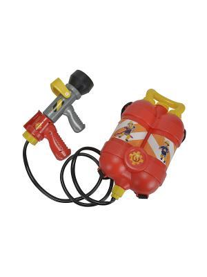 Пожарный Сэм, Водный пистолет с рюкзаком, 23см, 6/12 Simba. Цвет: серый, красный, желтый