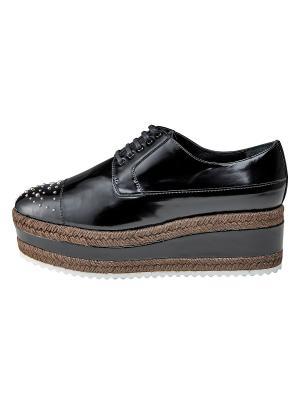 Ботинки ZHANNA BADOEVA. Цвет: черный