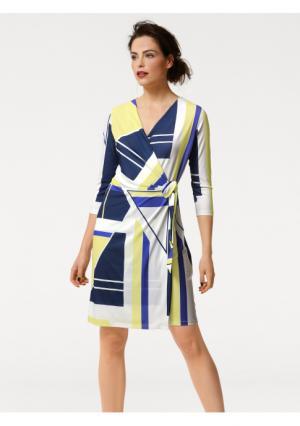 Платье Rick Cardona. Цвет: синий/желтый