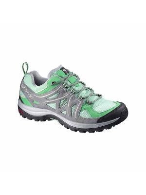 Кроссовки SHOES ELLIPSE 2 AERO W LUCITE GRE/GY/GY SALOMON. Цвет: серый,зеленый