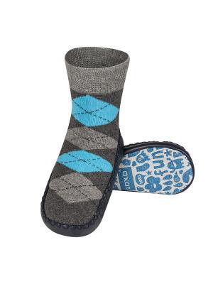 Тапочки-носочки детские SOXO. Цвет: черный, серый, темно-серый