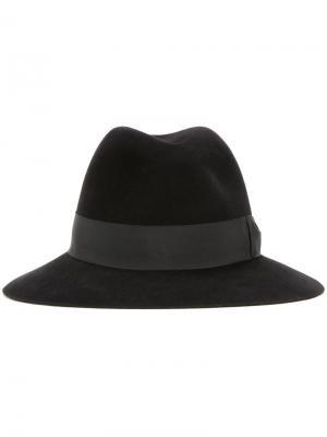 Фетровая шляпа с широкой лентой Kijima Takayuki. Цвет: чёрный