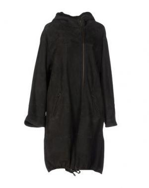 Пальто SPRUNG FRERES. Цвет: темно-коричневый