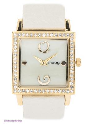 Часы MOOG. Цвет: белый, золотистый