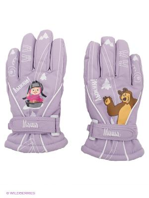 Перчатки Disney Princess. Цвет: сиреневый, серый, коричневый