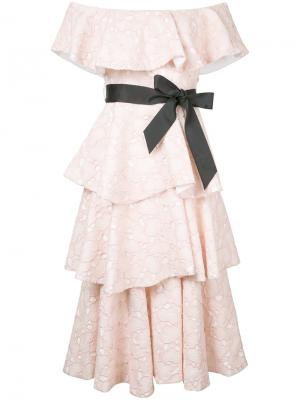 Soren dress Huishan Zhang. Цвет: розовый и фиолетовый