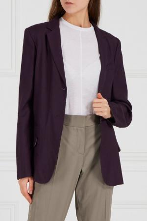 Однотонный жакет Diane von Furstenberg. Цвет: фиолетовый