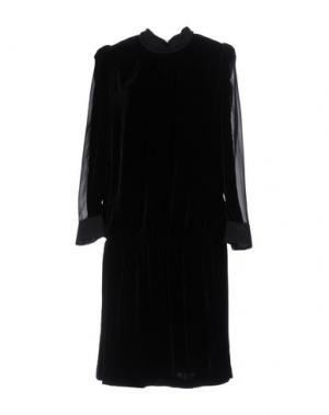 Платье до колена JO NO FUI. Цвет: черный