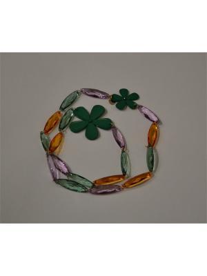 Ожерелье Sergio Bellini. Цвет: зеленый